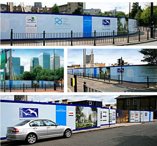 Nationwide Print Delivery for Hoardings and site signage