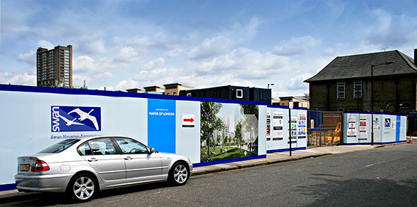 Site hoardings and site signage South East