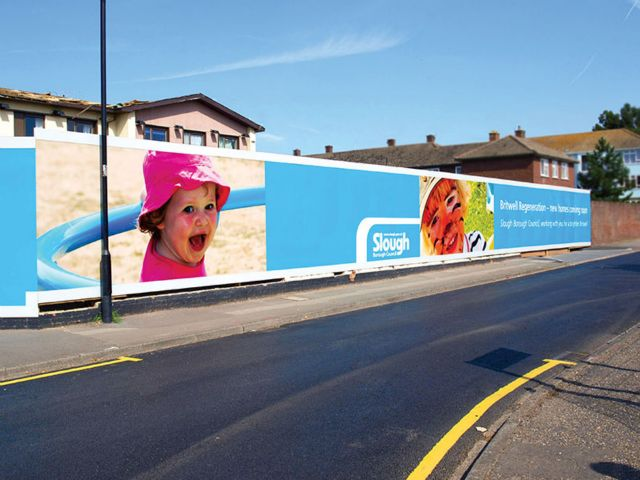 Site hoardings and site signage Cornwall