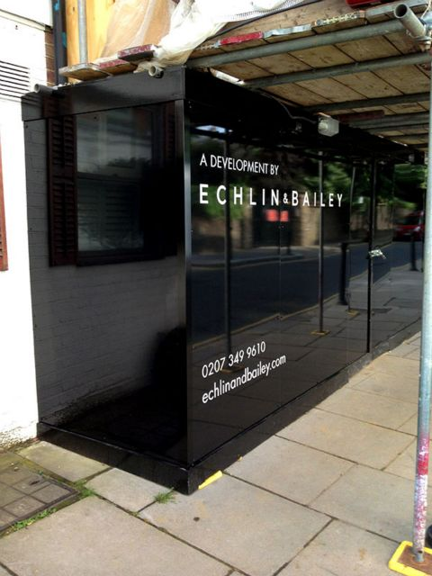 Site hoardings and site signage London